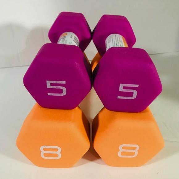 5 & 8 Lb CAP Neoprene Hex Dumbbell Weight …